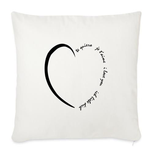 Multi Love - Housse de coussin décorative 45x 45cm
