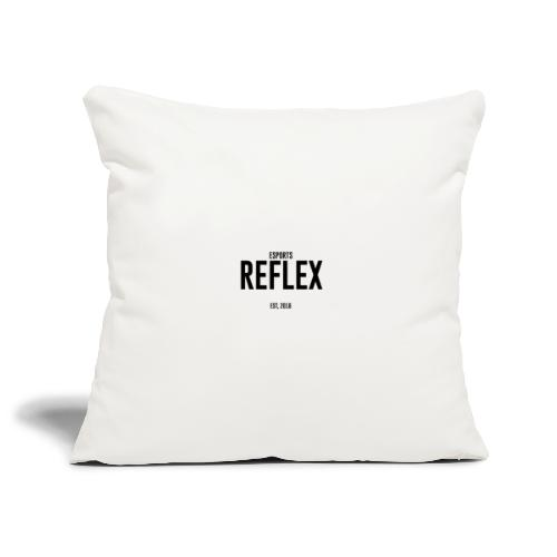 Black RFLX Logo W/ EST - Sofa pillowcase 17,3'' x 17,3'' (45 x 45 cm)