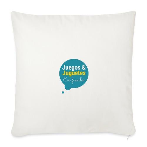 Logo Juegos y Juguetes en Familia - Funda de cojín, 45 x 45 cm