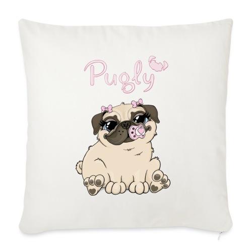 Bella Pug - Soffkuddsöverdrag, 45 x 45 cm