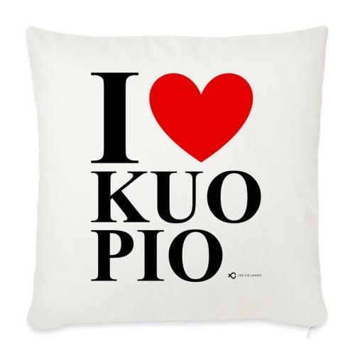 I LOVE KUOPIO ORIGINAL (musta) - Sohvatyynyn päällinen 45 x 45 cm