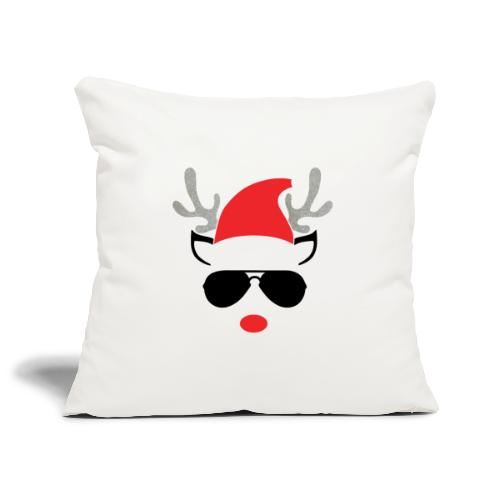 Cute Christmas Reideer with glasses for boys - Sofa pillowcase 17,3'' x 17,3'' (45 x 45 cm)