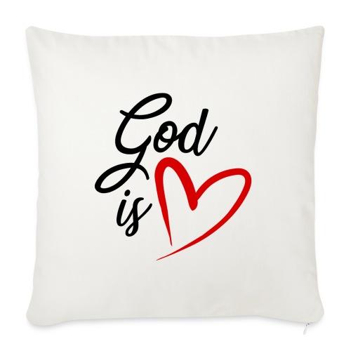 God is love 2N - Copricuscino per divano, 45 x 45 cm