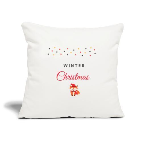 Winter Christmas Noël - Housse de coussin décorative 45x 45cm