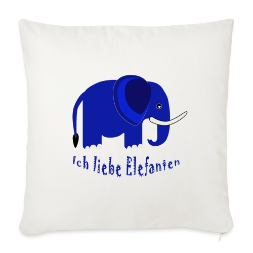 Ich liebe Elefanten (für Kinder) - Sofakissenbezug 44 x 44 cm