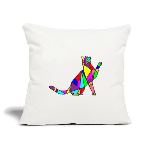 composizione di arte animale animale domestico colori gatto - Copricuscino per divano, 45 x 45 cm
