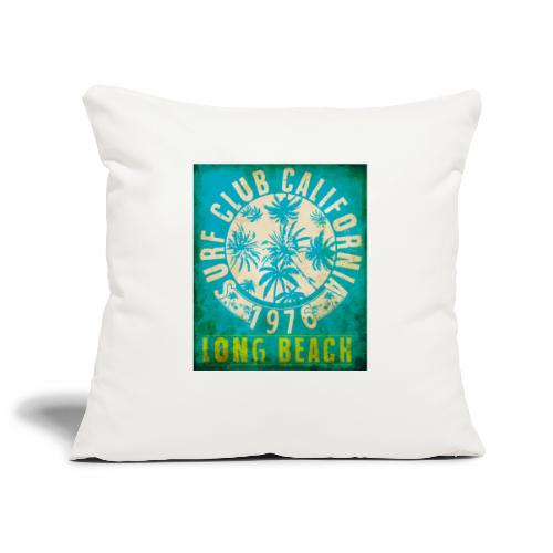 Long Beach Surf Club California 1976 Gift Idea - Sofa pillowcase 17,3'' x 17,3'' (45 x 45 cm)