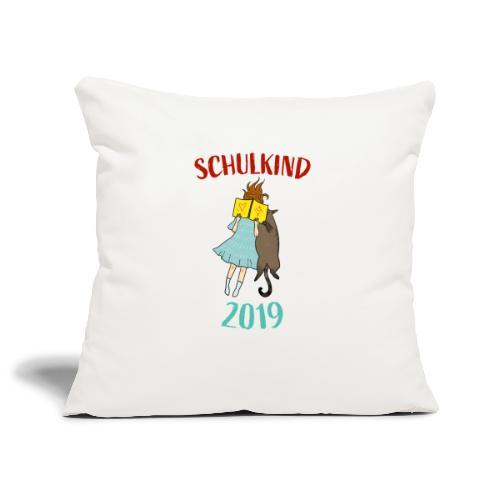 Schulkind 2019   Einschulung und Schulanfang - Sofakissenbezug 44 x 44 cm