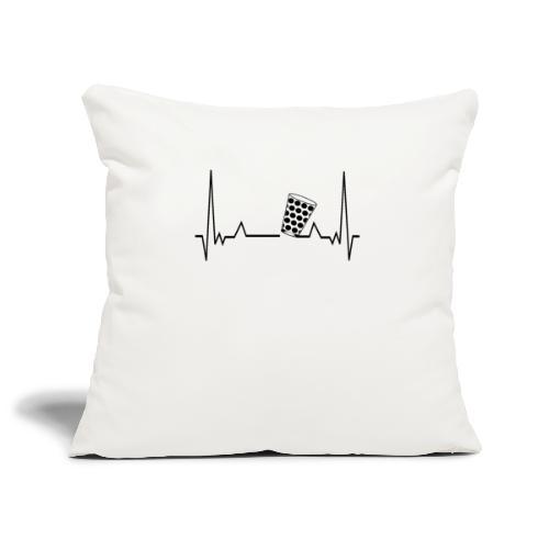 Heartbeat Dubbeglas Herzschlag Schorle Geschenk - Sofakissenbezug 44 x 44 cm