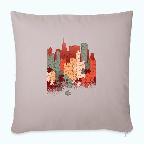 Puzzle fan - Sofa pillowcase 17,3'' x 17,3'' (45 x 45 cm)