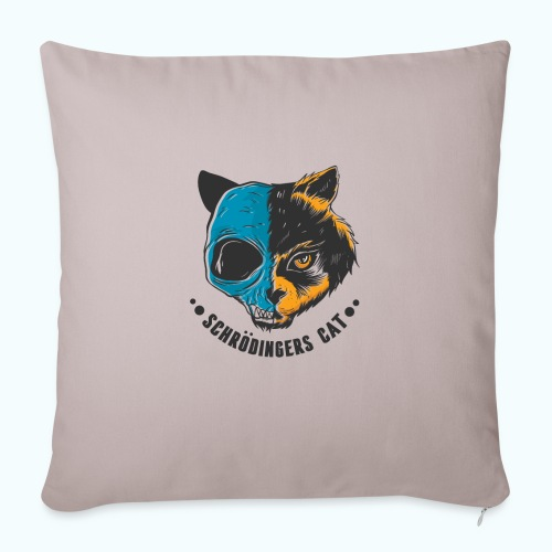 Schrödinger's Cat - Sofa pillowcase 17,3'' x 17,3'' (45 x 45 cm)