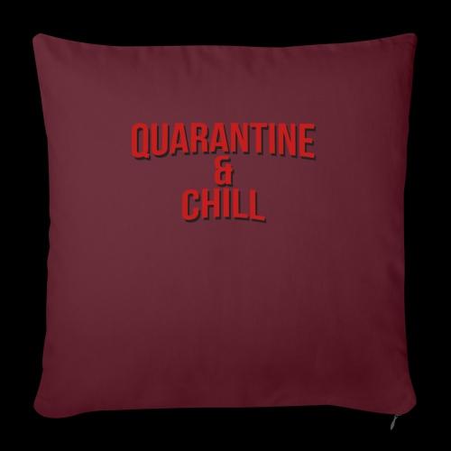 Quarantine & Chill Corona Virus COVID-19 - Sofakissenbezug 44 x 44 cm