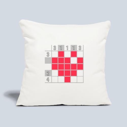 Heart Tshirt Women - Housse de coussin décorative 45x 45cm