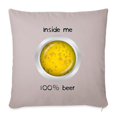 100% beer inside - Copricuscino per divano, 45 x 45 cm
