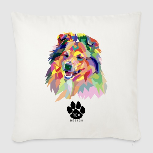Happy Little Sheltie - Sofa pillowcase 17,3'' x 17,3'' (45 x 45 cm)