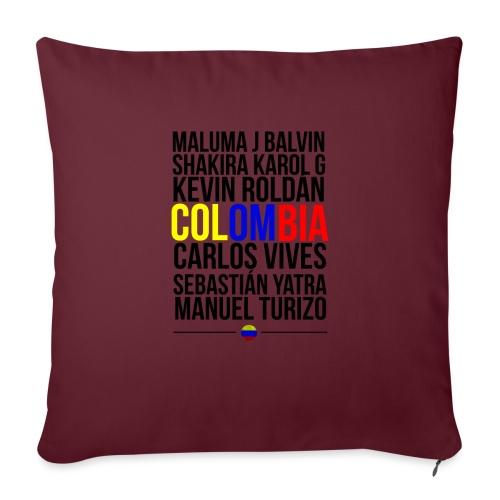 Reggaeton Shirt Kolumbien - Sofakissenbezug 44 x 44 cm