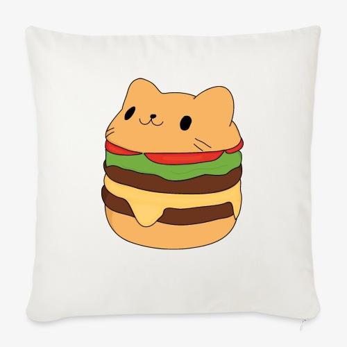 cat burger - Sofa pillowcase 17,3'' x 17,3'' (45 x 45 cm)