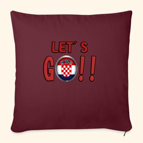 Go Croatia - Copricuscino per divano, 45 x 45 cm