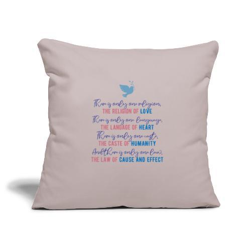The Religion of Love - Sofa pillowcase 17,3'' x 17,3'' (45 x 45 cm)