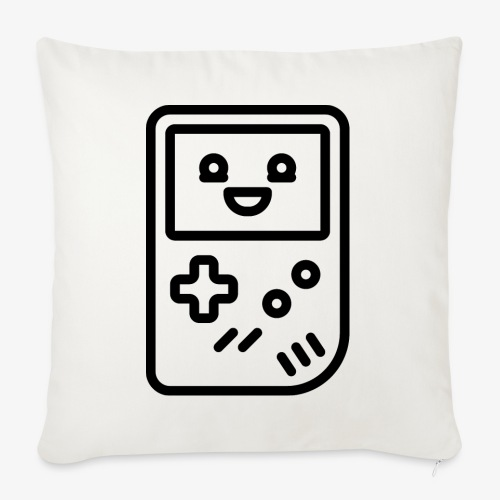 Smiling game console (black) - Sofa pillowcase 17,3'' x 17,3'' (45 x 45 cm)