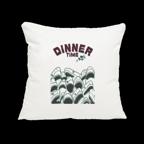 Dinner Time Funny Retro 90s Shark Shirt - Sofa pillowcase 17,3'' x 17,3'' (45 x 45 cm)