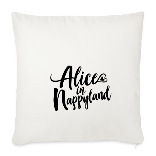 Alice in Nappyland Typography Black 1080 1 - Sofa pillowcase 17,3'' x 17,3'' (45 x 45 cm)