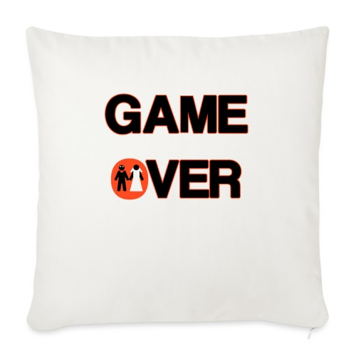 Addio al celibato - Game over rosso - Copricuscino per divano, 45 x 45 cm