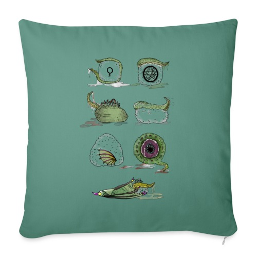 Il Sushi di Cthulhu! - Copricuscino per divano, 45 x 45 cm