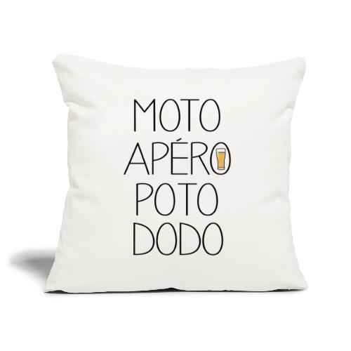 MOTO APÉRO POTO DODO - Housse de coussin décorative 45x 45cm