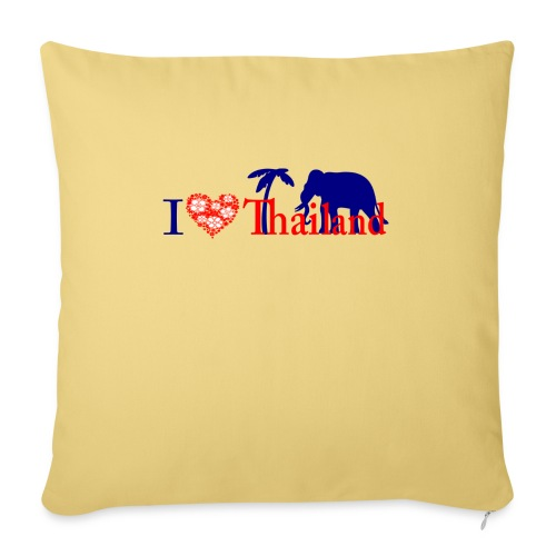 I love Thailand - Sofa pillowcase 17,3'' x 17,3'' (45 x 45 cm)