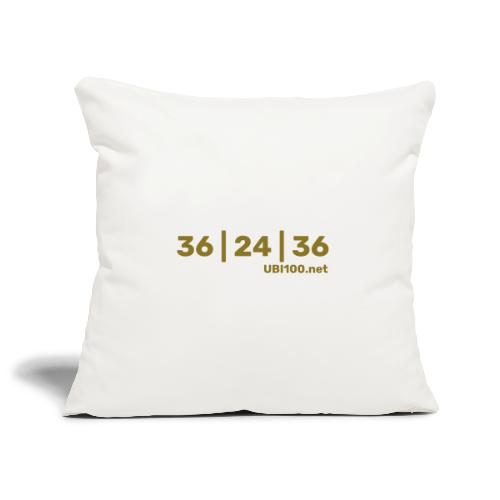 36 | 24 | 36 - UBI - Sofa pillowcase 17,3'' x 17,3'' (45 x 45 cm)