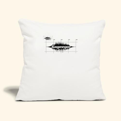 Gageego logga vit text - Soffkuddsöverdrag, 45 x 45 cm