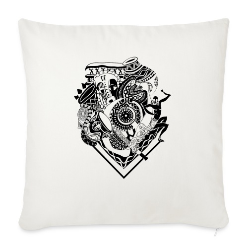 afrocentrique - Sofa pillowcase 17,3'' x 17,3'' (45 x 45 cm)