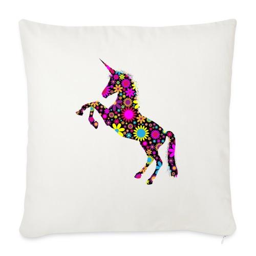 Unicorn-Floral - Copricuscino per divano, 45 x 45 cm