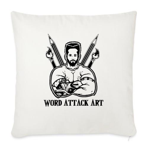 Word Attack Art - Sofakissenbezug 44 x 44 cm