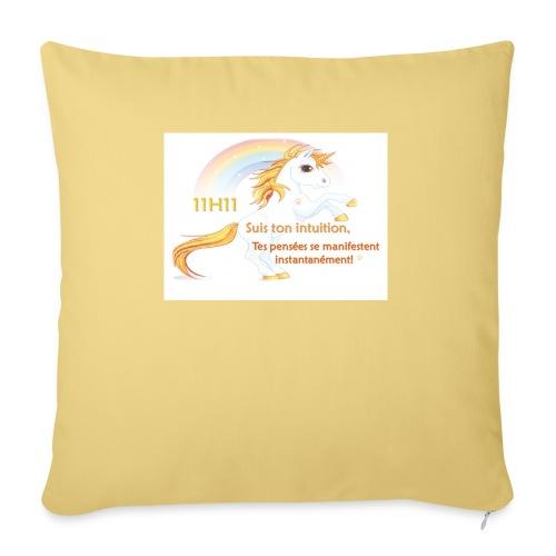 11h11 licorne or - Housse de coussin décorative 45x 45cm
