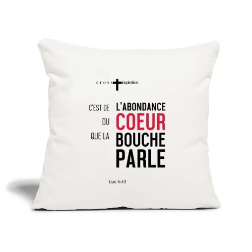 Coeur - Housse de coussin décorative 45x 45cm