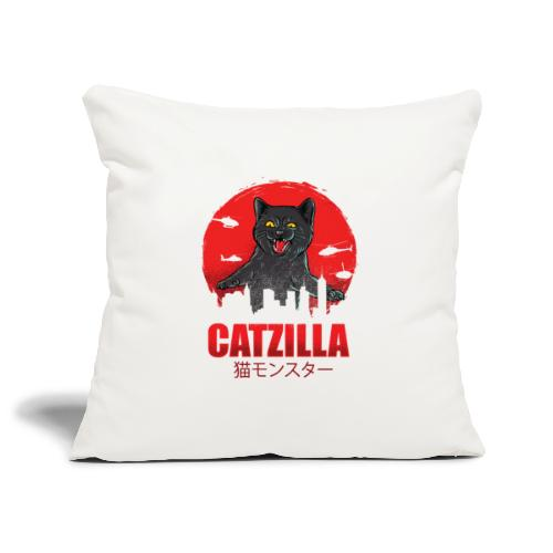 Catzilla Katzen Horror B-Movie Parodie - Sofakissenbezug 44 x 44 cm