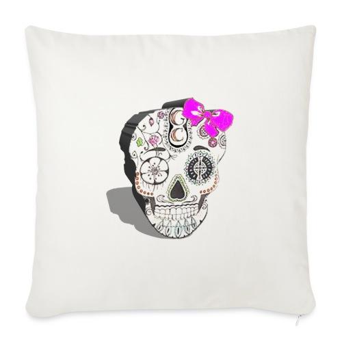 Tête de mort mexicaine 3D - Housse de coussin décorative 45x 45cm