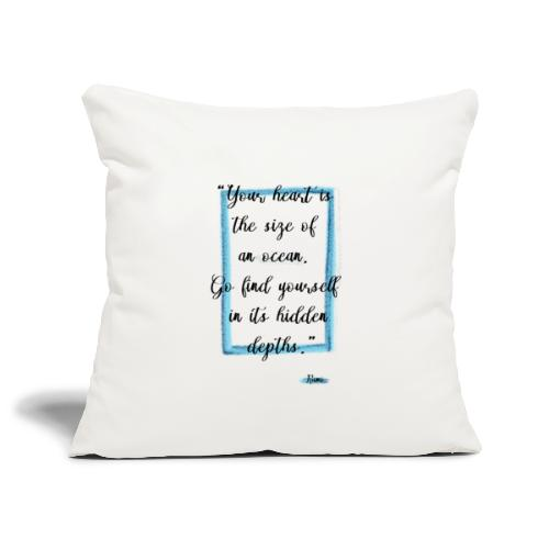 Frase motivazionale, citazione Rumi - Copricuscino per divano, 45 x 45 cm