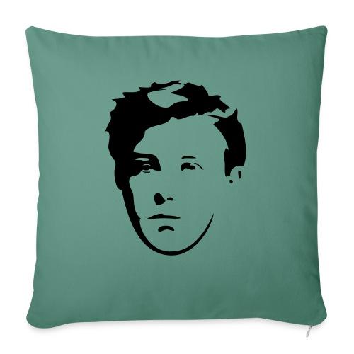 Arthur Rimbaud visage - Housse de coussin décorative 45x 45cm