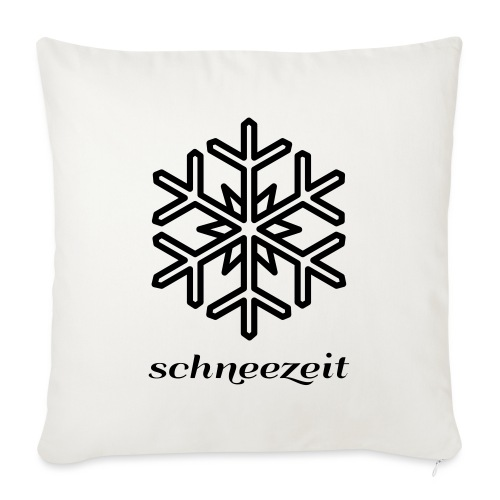 snow time logo 8SZ01 - Sofa pillowcase 17,3'' x 17,3'' (45 x 45 cm)