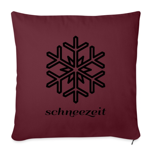 schneezeit Logo 8SZ01 - Sofakissenbezug 44 x 44 cm