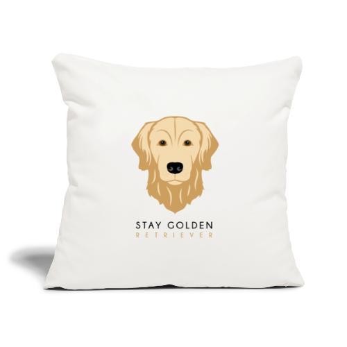 Golden Retriever - Dark - Copricuscino per divano, 45 x 45 cm