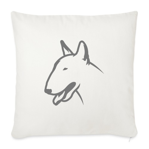 Bullterrier BULLY HEAD 1c_4light - Sofakissenbezug 44 x 44 cm