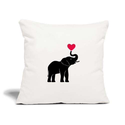 Love Elephants - Sofa pillowcase 17,3'' x 17,3'' (45 x 45 cm)