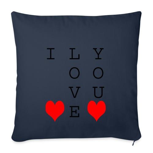 I Love You - Sofa pillowcase 17,3'' x 17,3'' (45 x 45 cm)