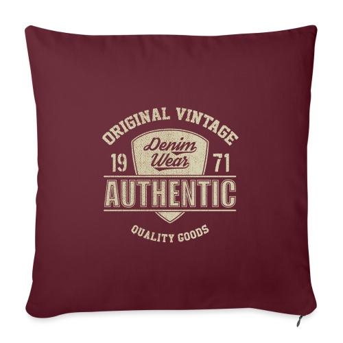 Authentic - Copricuscino per divano, 45 x 45 cm