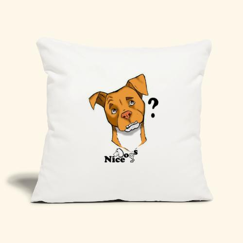 Nice Dogs pitbull 2 - Copricuscino per divano, 45 x 45 cm