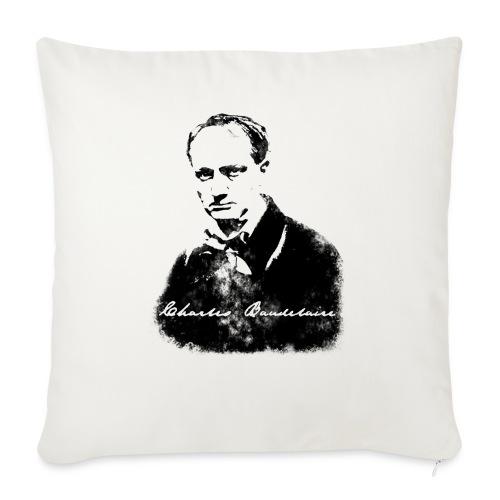 Charles Baudelaire - Housse de coussin décorative 45x 45cm